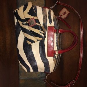 Dooney and Bourke Zebra purse and wallet.